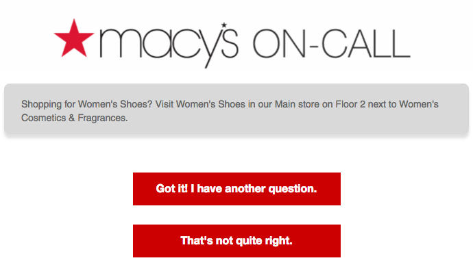 Macy's Digital Assistant