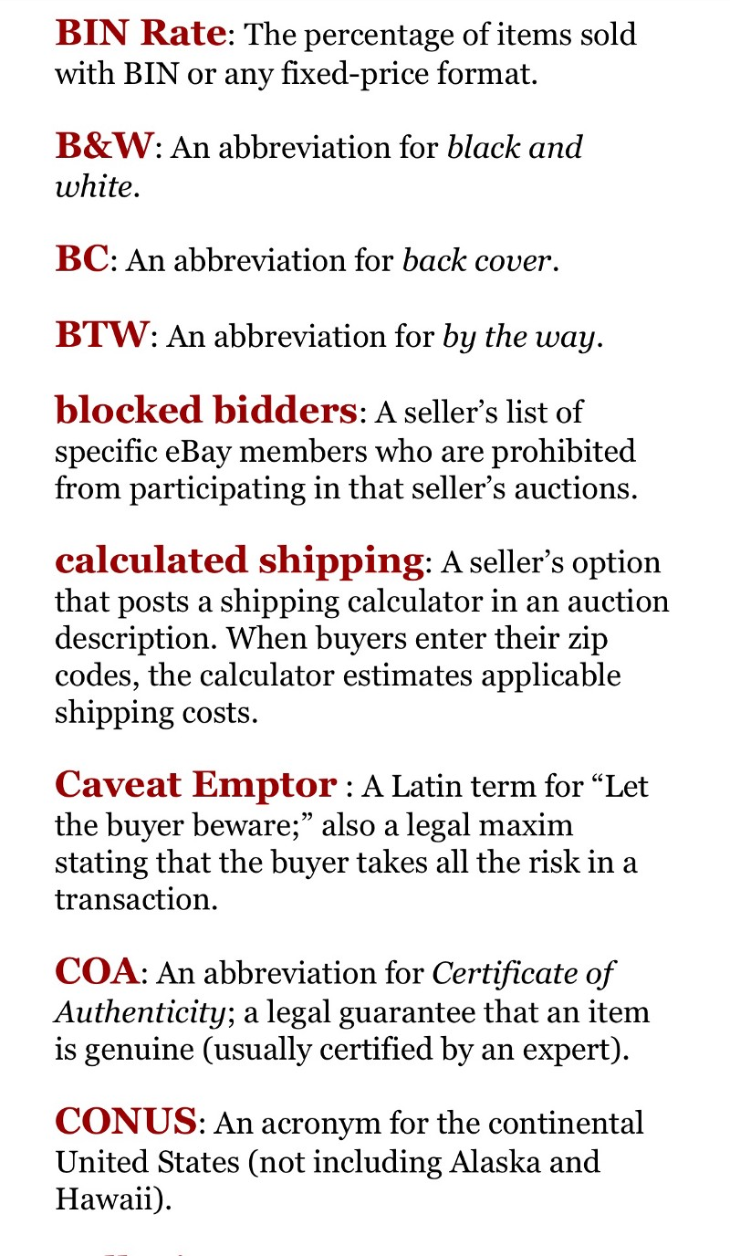 Terms Used On Ebay And Ecommerce Sites Ecom Tips Medium