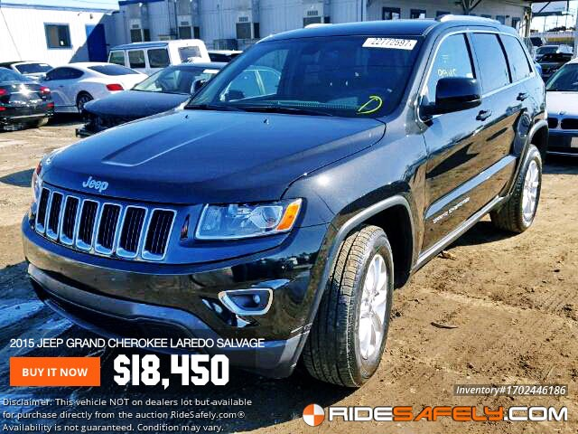 Shop For Used Salvage Jeep Grand Cherokee From Auto Auctions