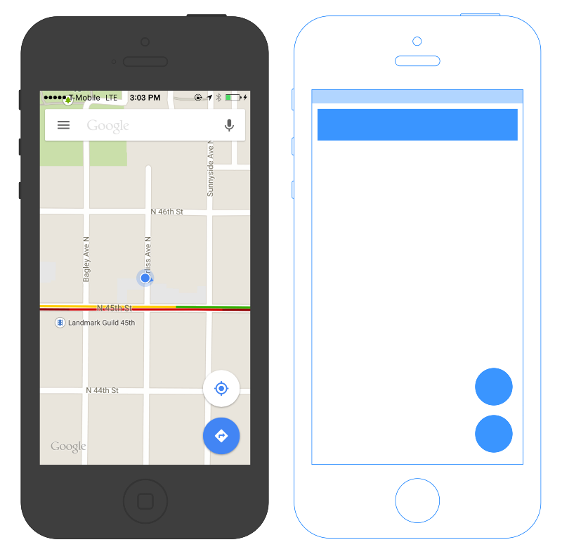 Google Maps Canvas Layout