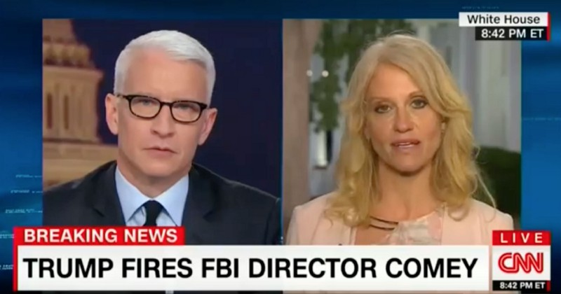 Kellyanne Conway says James Comey's own actions led to his firing