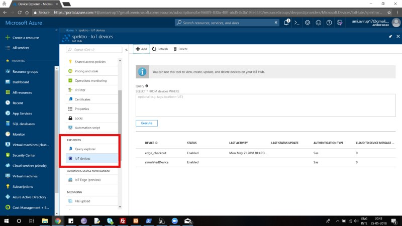 How to Use Azure IoT Hub, Azure function, and Azure Cosmos