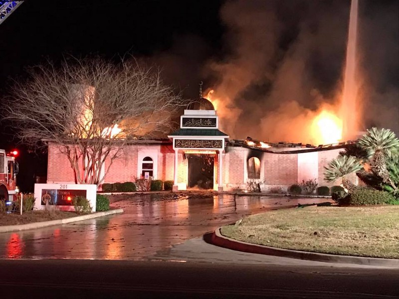 Texas mosque destroyed in early-morning blaze; cause unknown