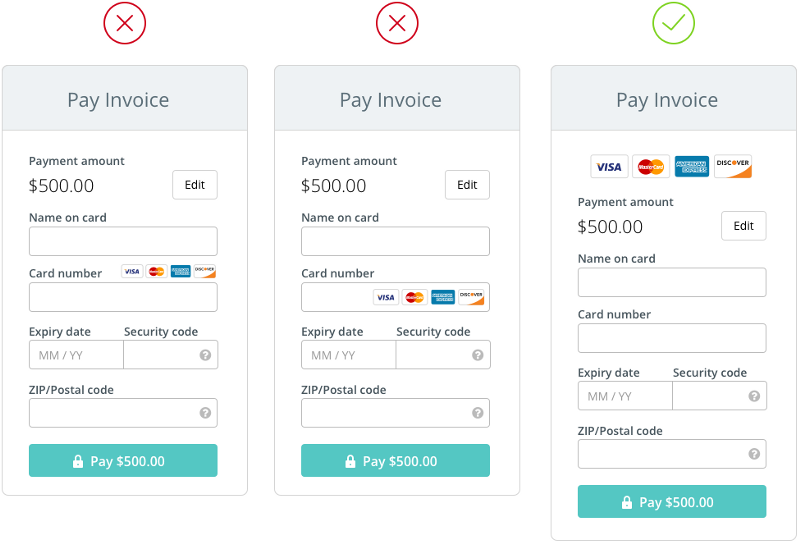 The anatomy of a credit card form uxdesigncc – Credit Card Form