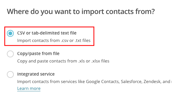 how to import contacts to MailChimp fig 7