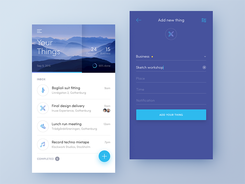 Todo list inspiration muzli design inspiration for How do i design an app