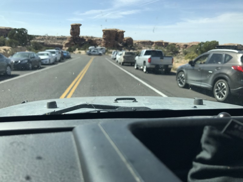 Easter Saturday Traffic in Canyonlands (iPhone)