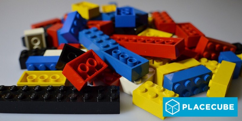 Assorted colourful Lego building bricks