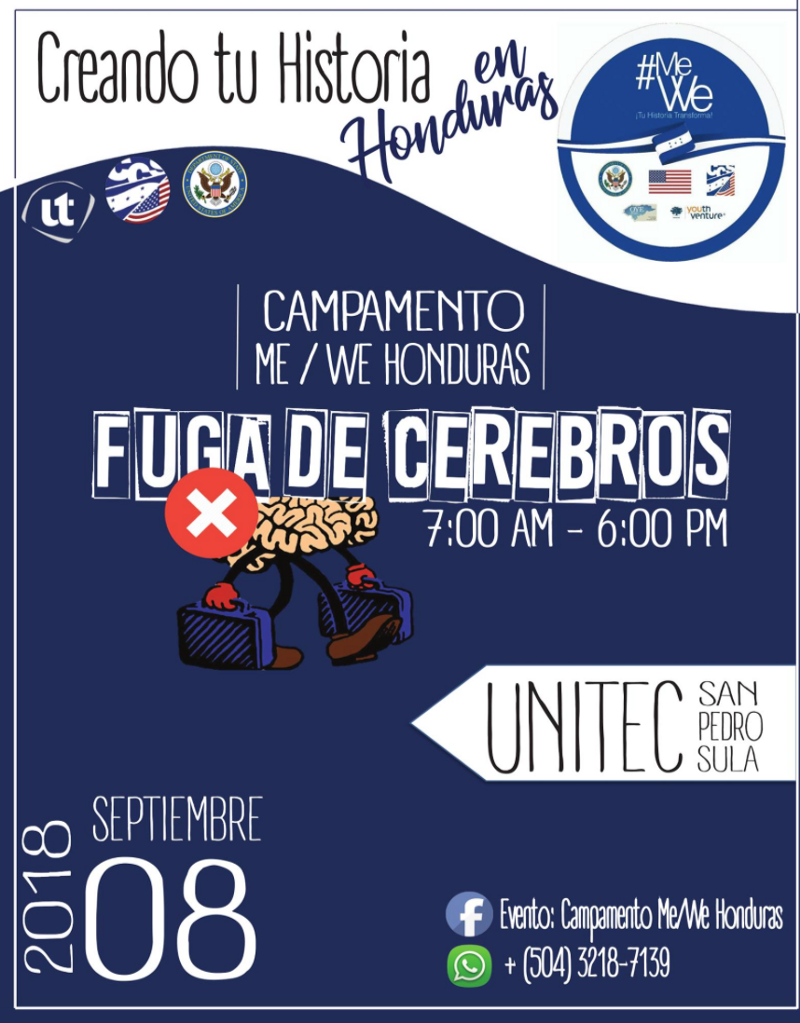 Promotion for #MeWeHonduras youth team's community event
