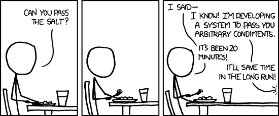 A comic with a person eating on a table and asking for the second on