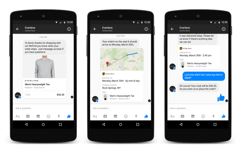You start to interact with a chatbot by sending it a message. Click here to  try sending a message to the CNN chatbot on Facebook.