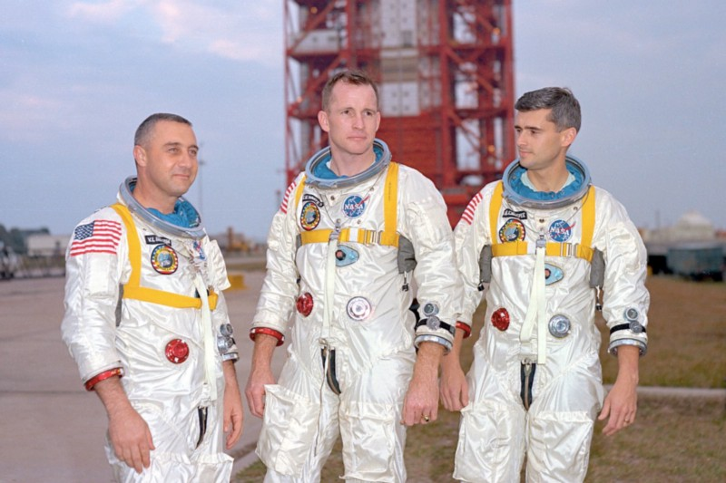 Gus Grissom, Ed White, and Roger Chaffee died in Apollo 1. Grissom's family believe it was murder