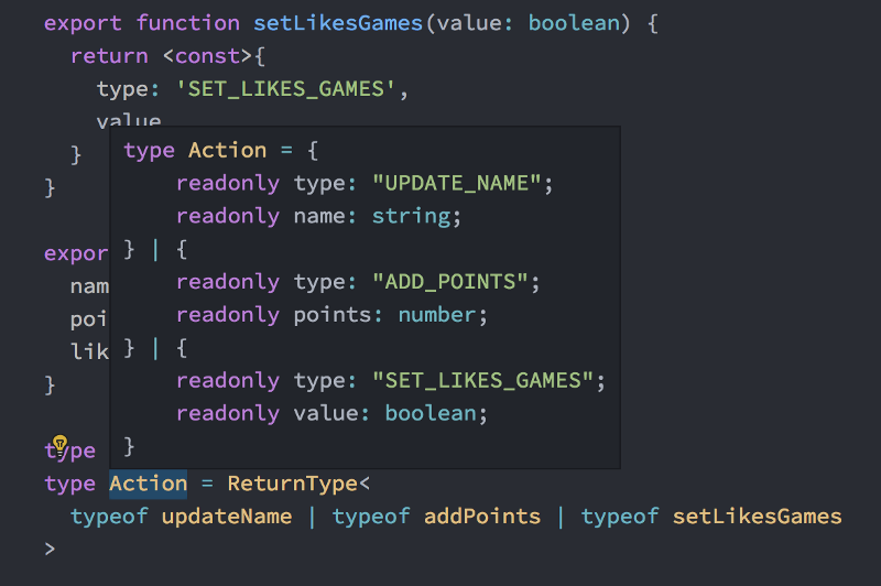 Writing better Reducers with React and Typescript 3.4