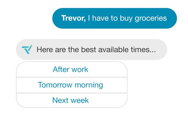 Trevor uses AI to schedule your tasks.