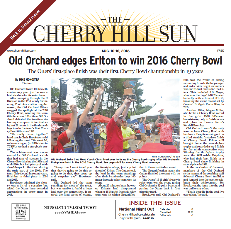 Cherry hill back page