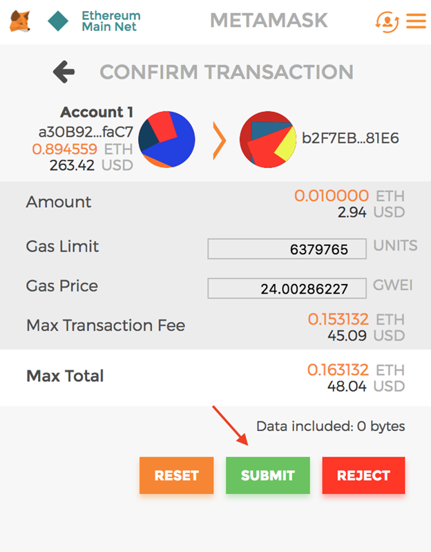 how to add rfr to eth wallet