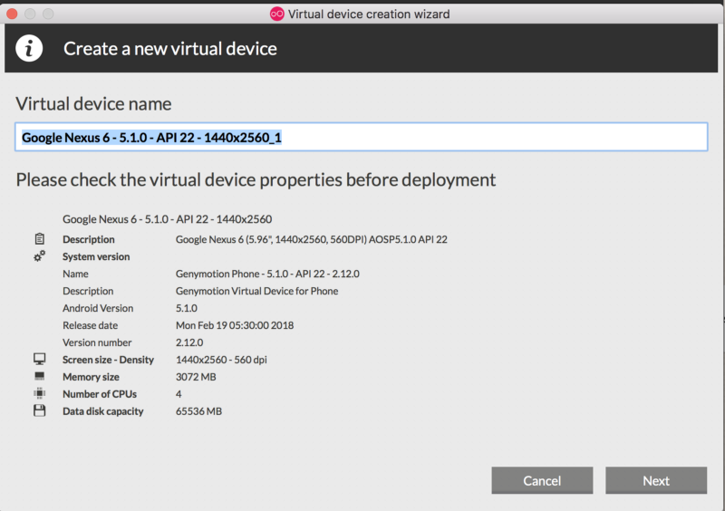 Verify the configuration- You can always change them from VirtualBox.