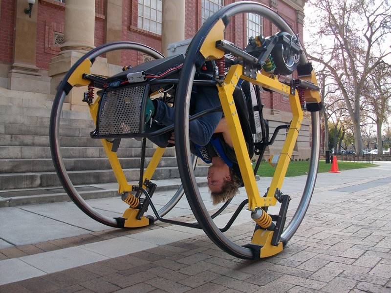 inverted bicycle