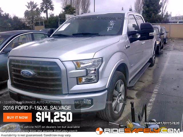 Shop For Used Salvage Ford F 150 From Online Car Auction