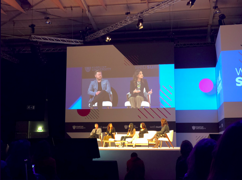 Alex Tew Co-founder & Co-CEO of Calm presenting the concepts of mental health supported by tech, Web Summit 2018