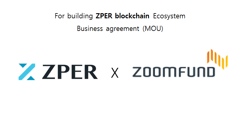 Zper Signs A Partnership Agreement With Zoomfund Zper For P2p