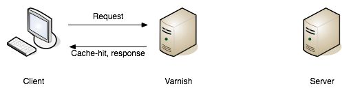 A request failing to find a match (a.k.a cache miss), and being passed on to the API server to fulfill.—book.varnish-software.com