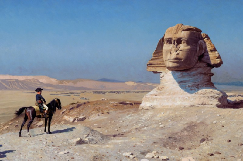 The Sphinx was buried under sand for much of its life