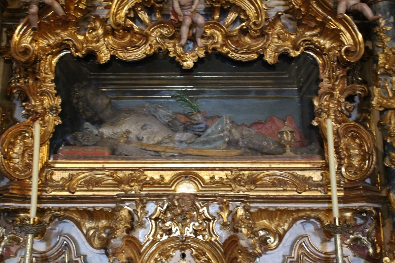 The bones of St. Felix in the Church of Santa Maria in Arcos De la Fronterra, Spain