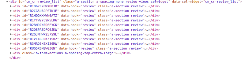 Scraping Amazon Reviews using Scrapy in Python