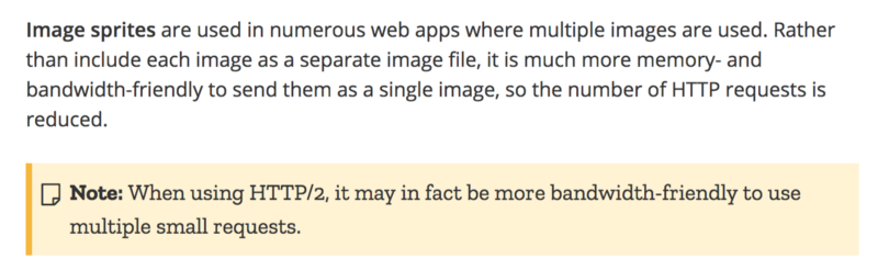 """""""Implementing image sprites in CSS"""" **Source:** [developer.mozilla.org](https://developer.mozilla.org/en-US/docs/Web/CSS/CSS_Images/Implementing_image_sprites_in_CSS)"""