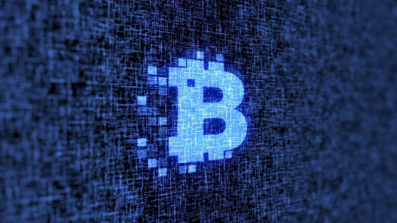 Picture used blockchain and trucking article blue B