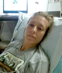 Female in hospital bed