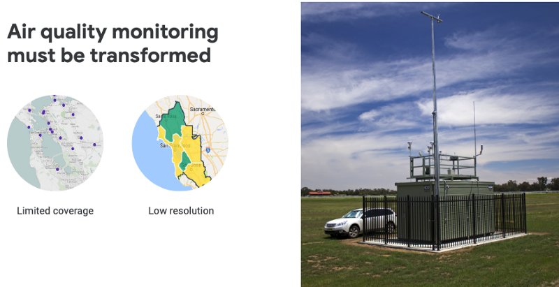 Air quality monitoring current resolution