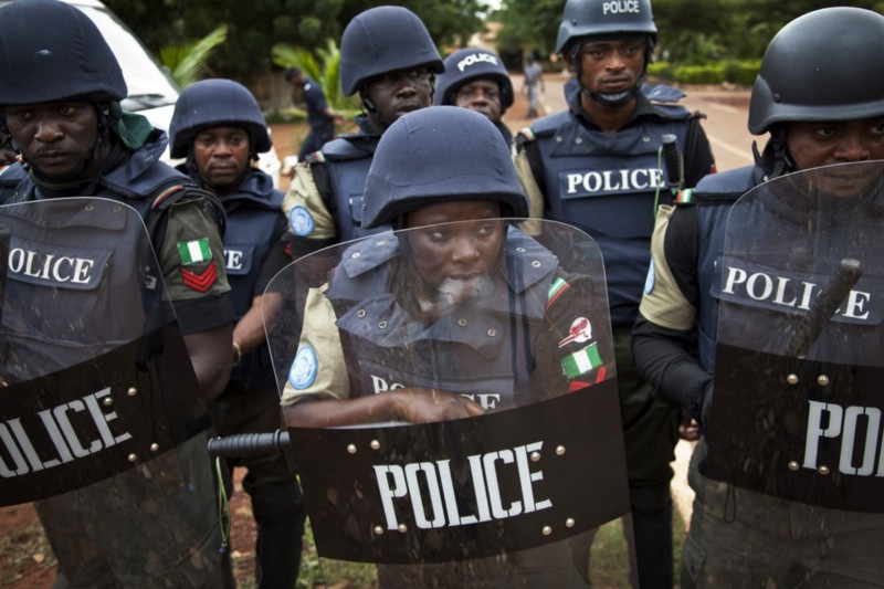 90f70140e Senegalese and Nigerian United Nations Police Officers attend a crowd  control exercise along with Malian Police Officers at the Ecole Nationale  de Police in ...