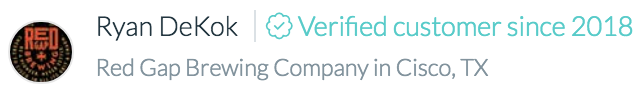 Kinnek reviews are never anonymous. They're verified to be from actual customers of yours.