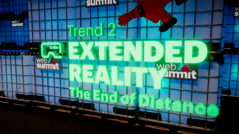 Trend 2 Extended Reality - trends presented by Yves Bernaert the Senior Managing Director at Accenture at Web Summit 2018