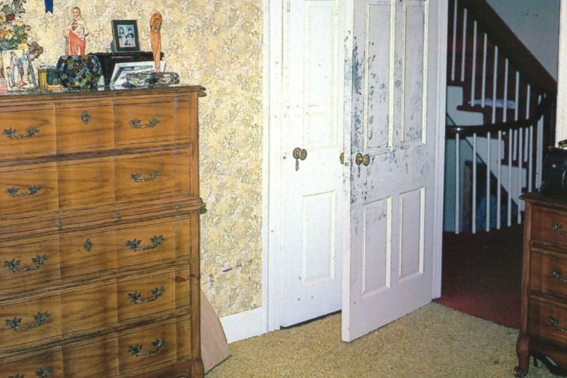 Blood splatter found on walls and floors indicated some victims were shot away from their beds