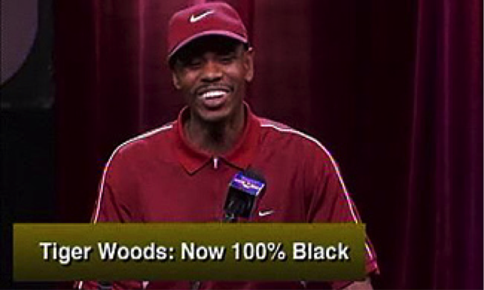 Image result for tiger woods adopted asian dave chappelle
