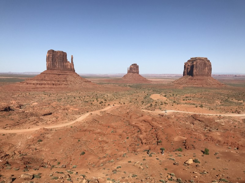 The Usual Monument Valley Shot - Mittens and Merrick Butte (iPhone)
