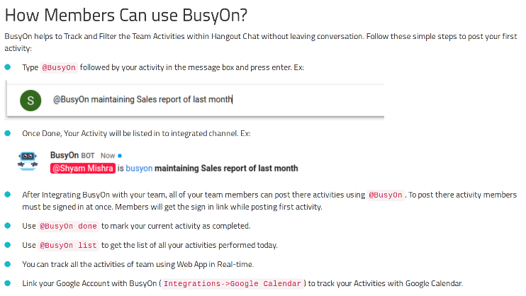 BusyOn get started