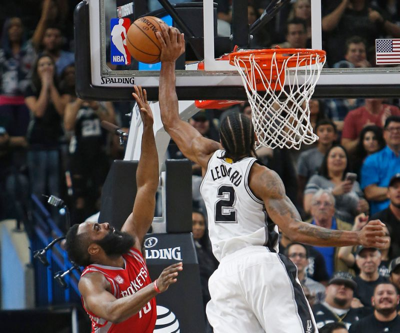 aeed997c482 If there was ever a picture worthy of a thousand words it would be this  photo of Kawhi Leonard s game-saving block at the end of the Spurs 112–110  win over ...