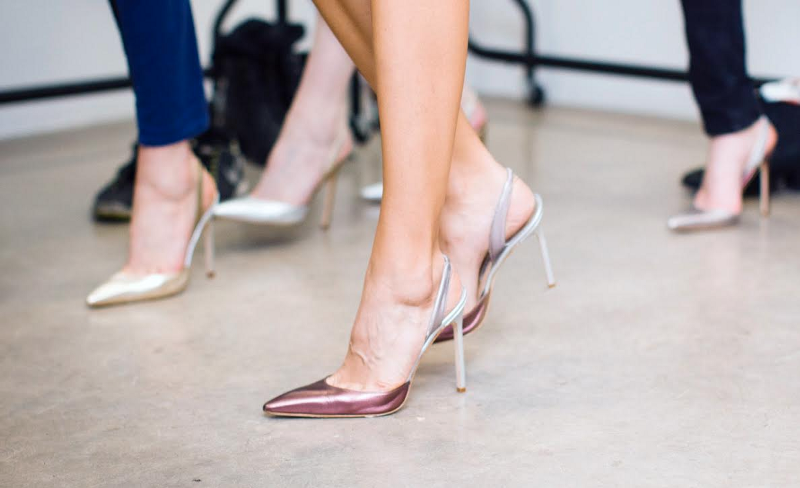 shinny heels for women to wear on a party outfit