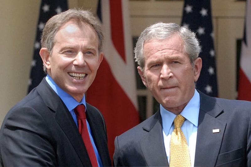 Blair and Bush used false intelligence to justify the war