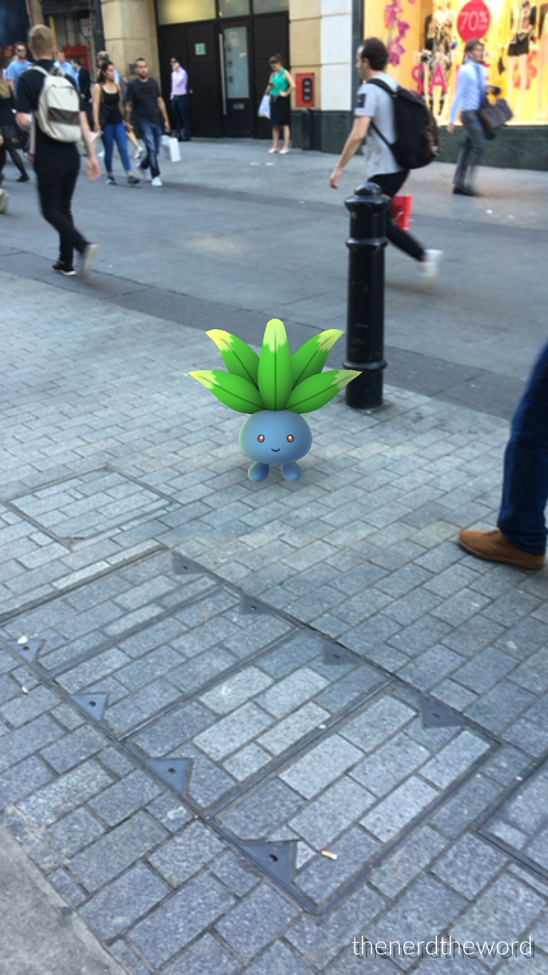 An Oddish hanging out on Argyll Street
