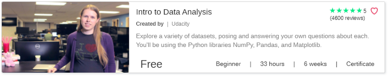 Intro to Data Analysis by Udacity