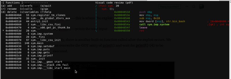 0x0804853d is our `win` function!