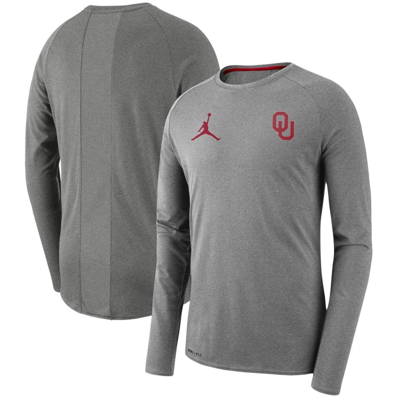 72386299cef84e Jordan Men s Oklahoma Sooners Crimson Alpha Dri-FIT Long Sleeve
