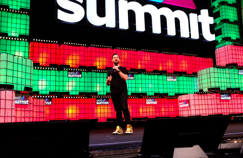 founder of Reddit, Venture capitalist Alexis Ohanian, speaking on the Web Summit stage