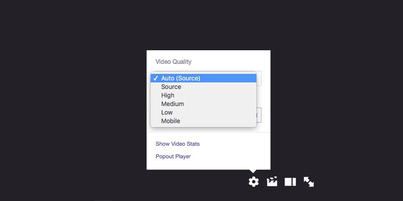 Use the Auto quality option for stress-free streams