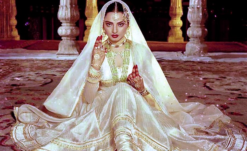 Rekha as Umrao Jan Ada (1981).